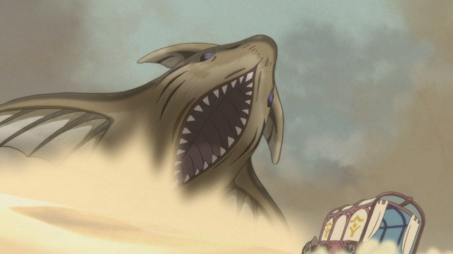 An Osuna Desert sandshark from the anime series Somali and the Forest Spirit