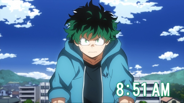 Izuku Midoriya from the anime series My Hero Academia season 4