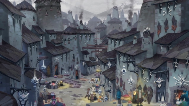 Bygone City from the anime series Somali and the Forest Spirit