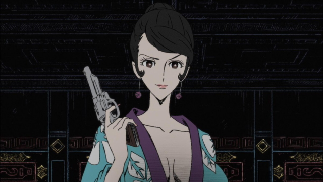 Fujiko Mine in disguise from the anime series Lupin the Third: The Woman Called Fujiko Mine