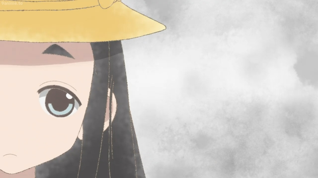 Hime thinking for the first time from the anime series Kakushigoto