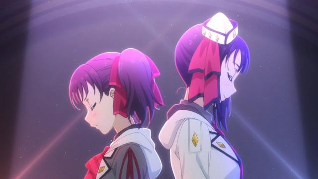 Sarah and Leah Kazuno of Saint Snow from the anime series Love Live! Sunshine!! Season 2