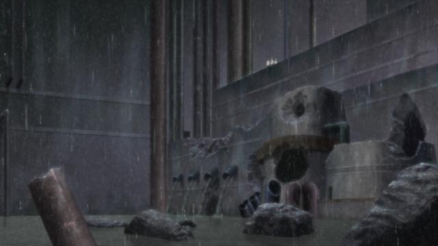 The Hidden Rain Village from the anime series Boruto: Naruto Next Generations