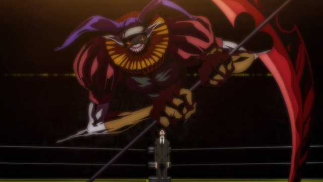 An enemy stand (probably) from the anime series The God of High School