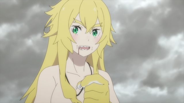 Frederica's partial beast transformation from the anime series Re:ZERO season 2