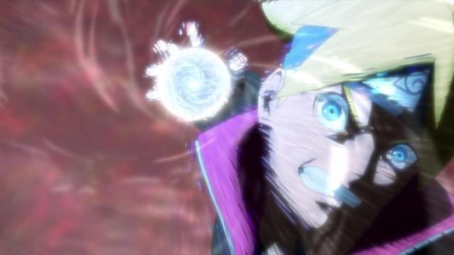 Boruto using Rasengan from the anime series Boruto: Naruto Next Generations
