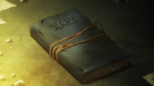 The diary of Raffles I's wife from the anime series Fire Force season 2