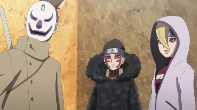 Araya, Shinki, and Yodo from the anime series Boruto: Naruto Next Generations
