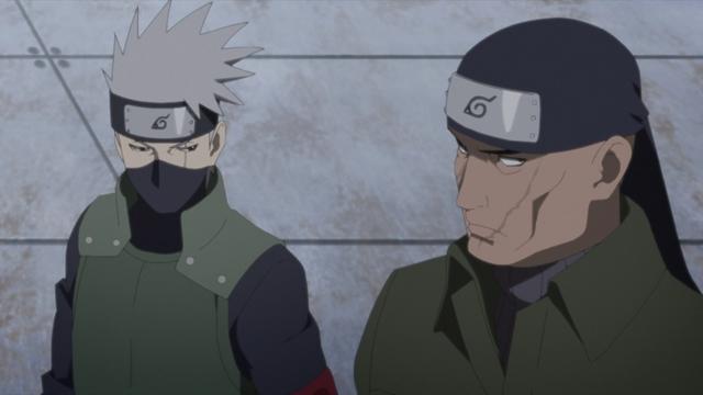 Kakashi and Ibiki from the anime series Boruto: Naruto Next Generations