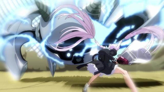 Yuri vs. Mecha Rumpelstilzchen from the anime series Assault Lily: Bouquet