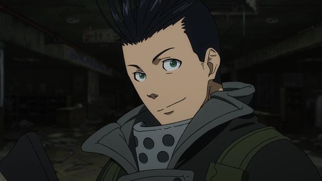 Captain Hajiki from the anime series Fire Force Season 2