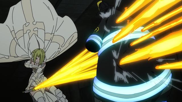 Orochi vs. Juggernaut from the anime series Fire Force Season 2