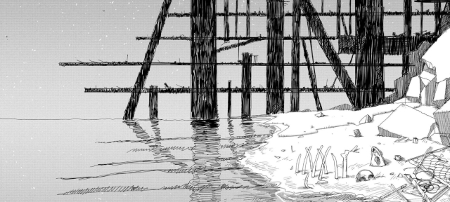 The first dead human of the series from the manga Girls' Last Tour