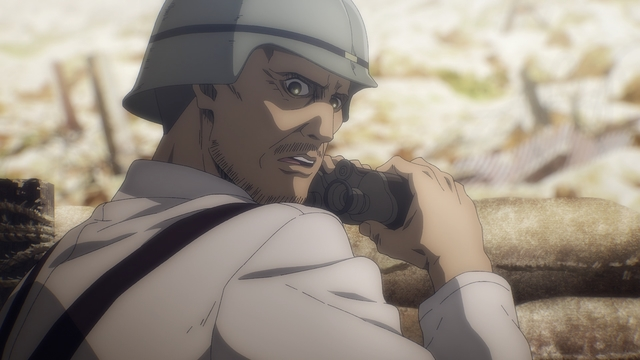 Commander Magath from the anime series Attack on Titan: The Final Season