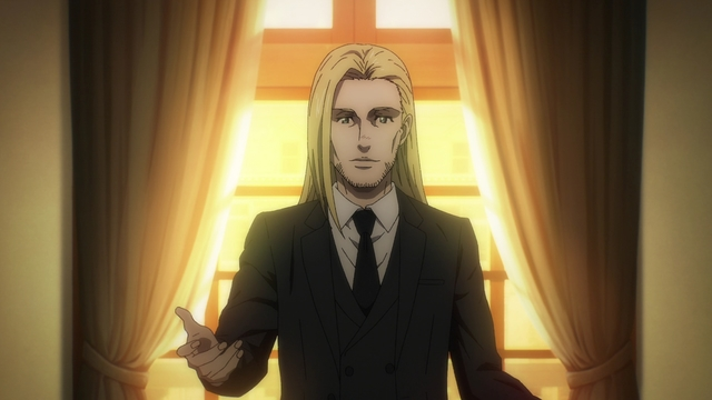 Willy Tybur from the anime series Attack on Titan: The Final Season