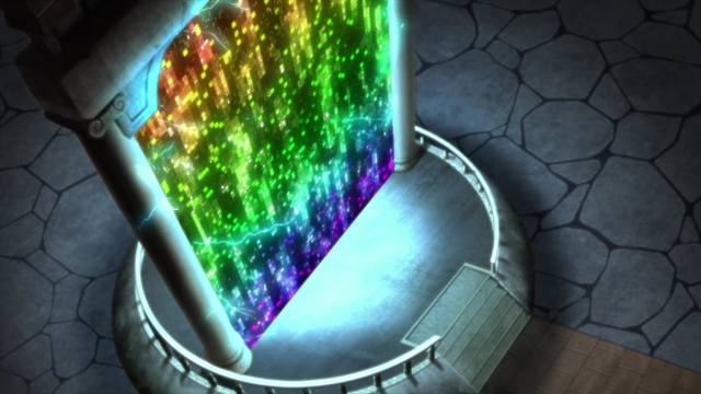 A space-time gate used by Kara from the anime series Boruto: Naruto Next Generations