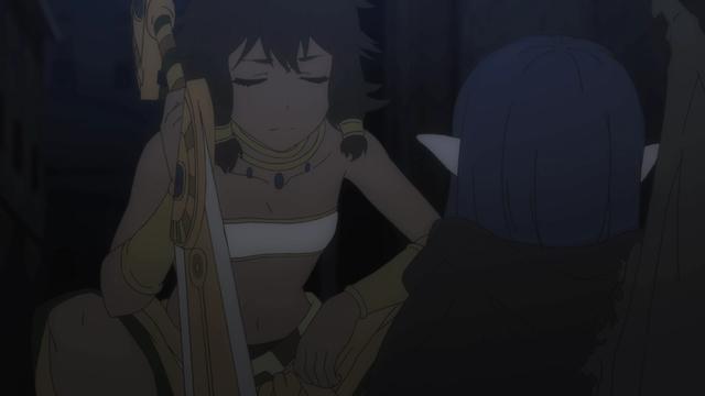 Tiona talking to Wiene from the anime series DanMachi III
