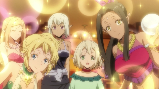 Elf hostess club workers from the anime series That Time I Got Reincarnated as a Slime Season 2