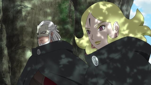 Koji Kashin and Delta from the anime series Boruto: Naruto Next Generations