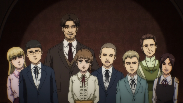 The Braus family from the anime series Attack on Titan: The Final Season