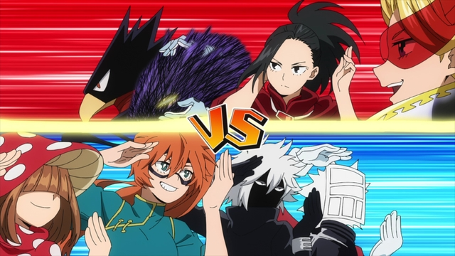 Class 1-A vs. Class 1-B Round 2 from the anime series My Hero Academia Season 5