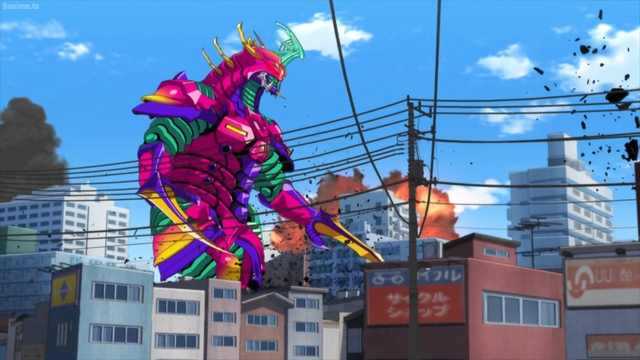 The warping kaiju from the anime series SSSS.Dynazenon