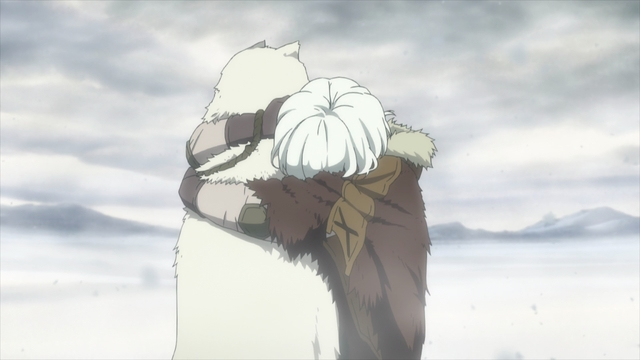 """The boy hugging """"Joaan"""" from the anime series To Your Eternity"""