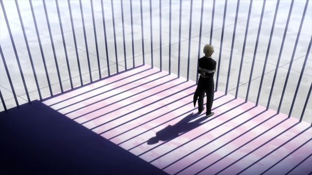 Monoma after getting caught by Uraraka from the anime series My Hero Academia Season 5