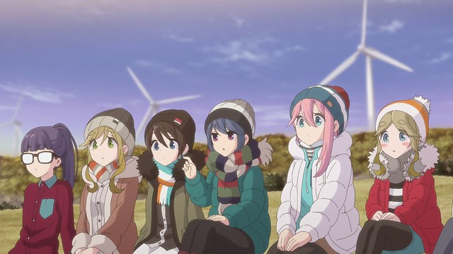 The laid-back campers from the anime series Laid-Back Camp Season 2