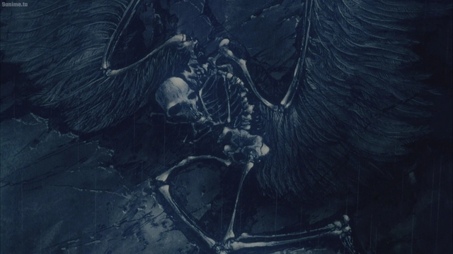 The fossilized angel from the anime movie Angel's Egg