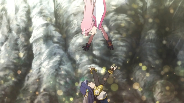 Yachiyo reuniting with Iroha from the anime series Magia Record: Puella Magi Madoka Magica Side Story 2nd Season