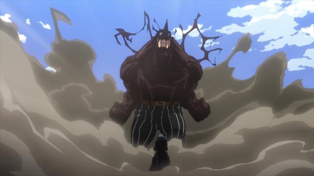 Shigaraki standing before Re-Destro from the anime series My Hero Academia Season 5
