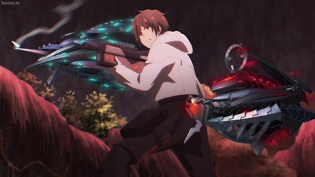 Shigure using his FIBE from the anime series Deep Insanity: The Lost Child
