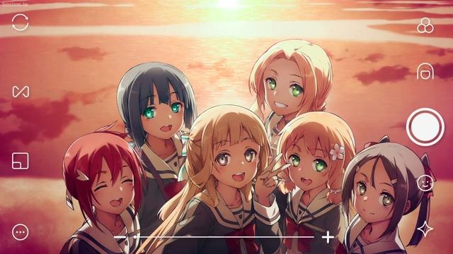 Yuna, Togo, Sonoko, Fuu, Itsuki, and Karin from the anime series Yuki Yuna is a Hero: The Great Mankai Chapter