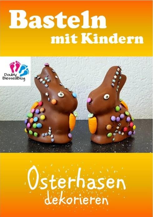 Osterhasen dekorieren mit Kindern - Basteln zu Ostern