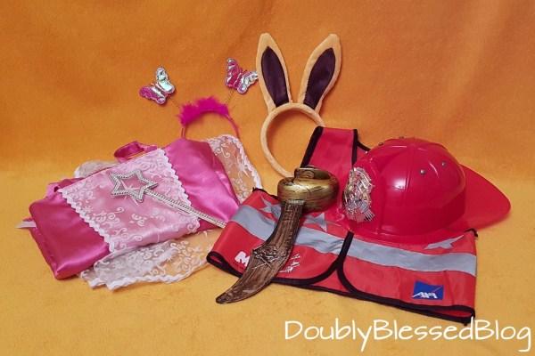 Geschenkideen für 4-jährige Mädchen und Jungen - Verkleidung Prinzessin, Pirat, Feuerwehrmann