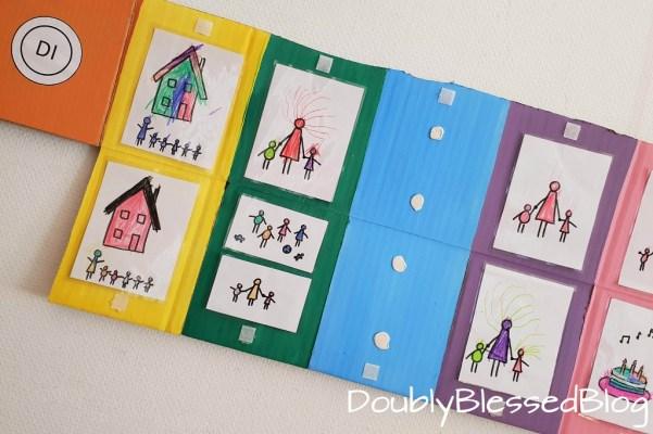 Wochenkalender für Kinder mit Bildern basteln