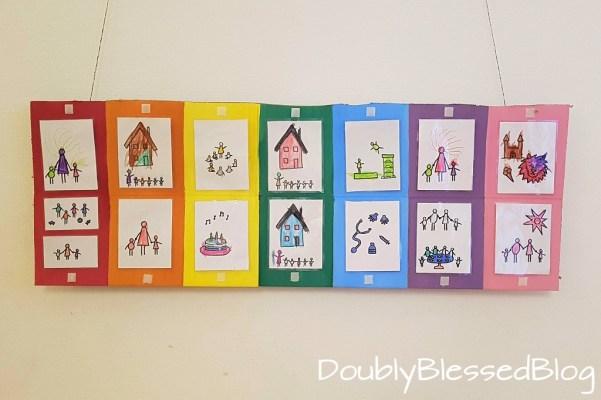Wochenkalender für Kinder basteln