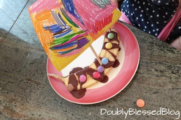 Banancenschiffchen - Dessert, Nachtisch oder Zvieri für Kinder zum selbermachen