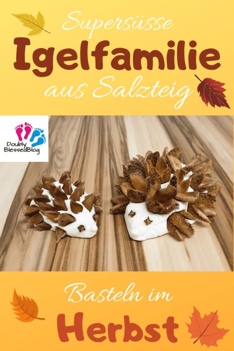 Pin Igelfamilie DIY Basteln mit Kindern Salzteig