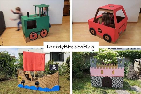 Familienprojekt: Fahrzeuge aus Karton bzw. Pappe