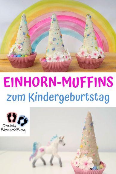 Pinterest Einhort-Muffin Kindergeburtstag