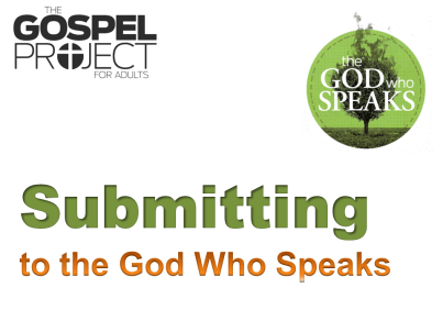 Submitting to the God Who Speaks - Doubtless Living