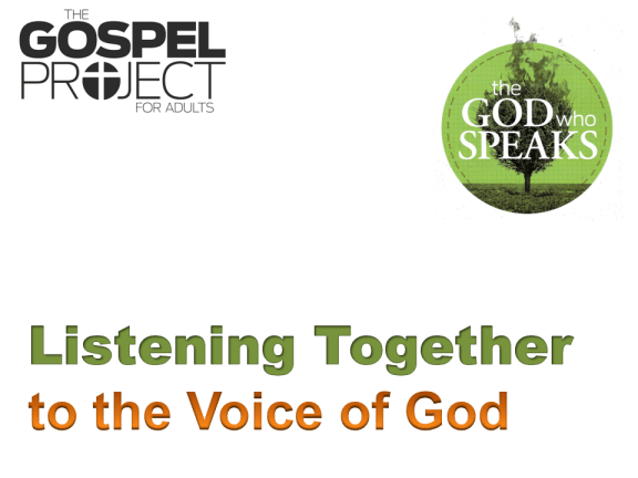 Listening Together to the Voice of God