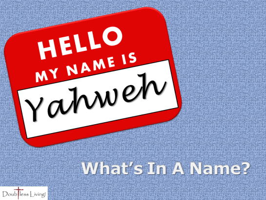 What's In A Name - Doubtless Living