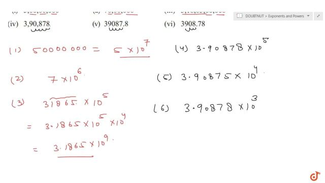 Express the following numbers in standard form:(i) 25,25,25,250 (ii