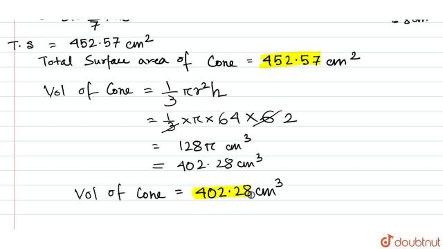 If the height and slant height of a cone are 27 cm and 27 cm