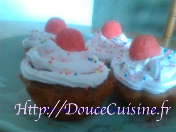 Cupcake aux fraises tagada