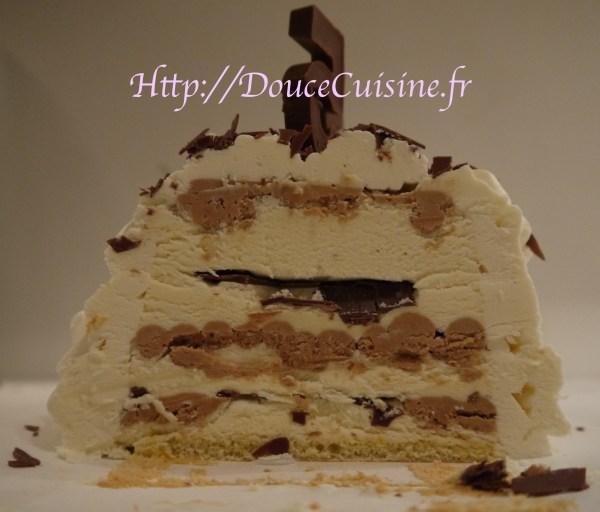 Bûche glacée chocolat-vanille