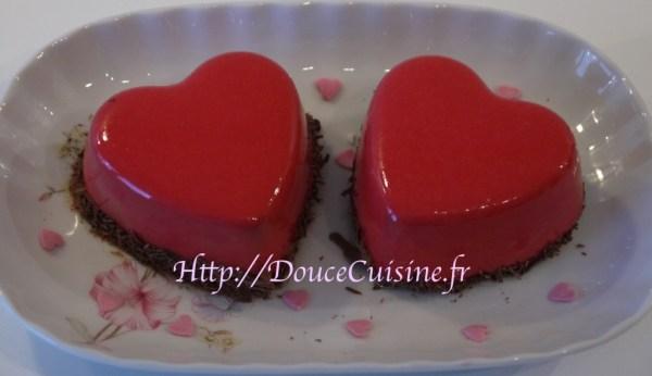 Bavarois chocolat framboise (Imane le meilleur pâtissier)